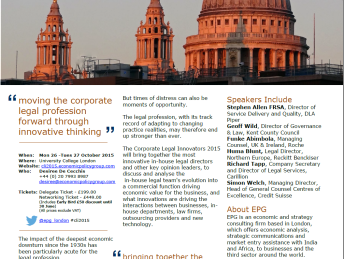 Corporate Legal Innovators Flyer 2015