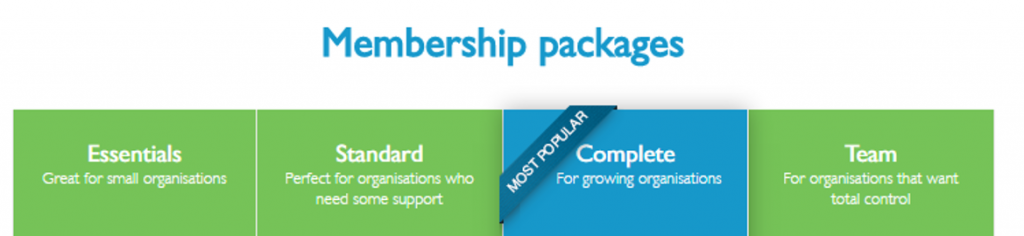 Charity Clarity membership packages