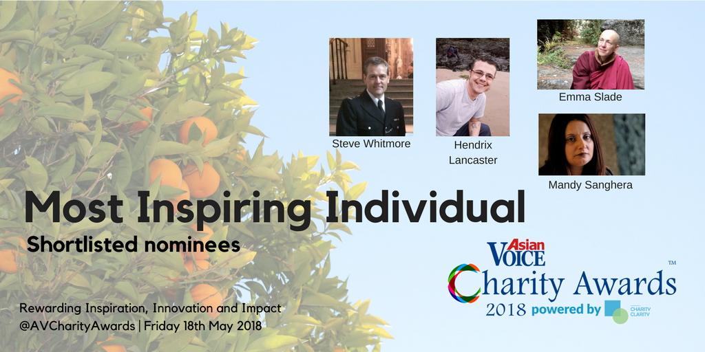 Charity Awards Shortlist 2018 - Most Inspiring Individual
