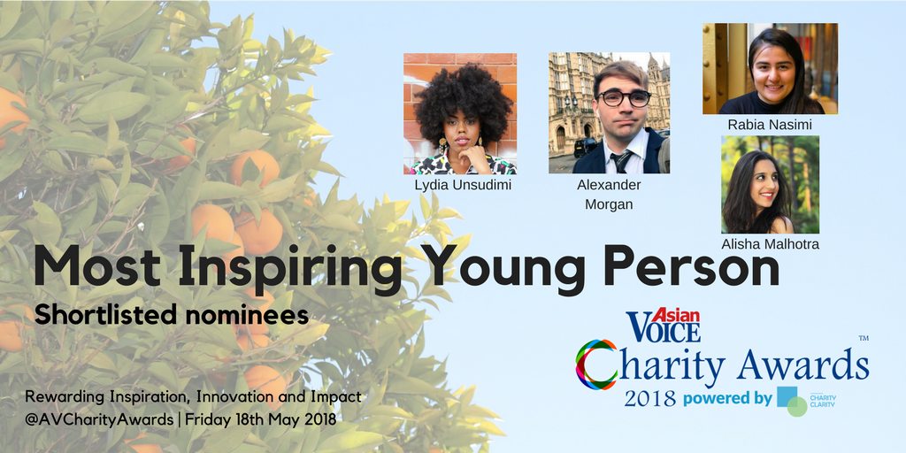 Charity Awards Shortlist 2018 - Most Inspiring Young Person