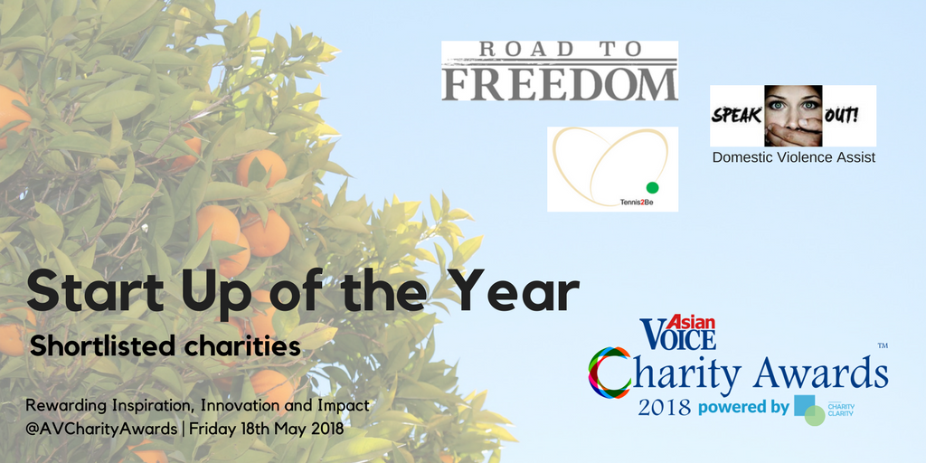Charity Awards Shortlist 2018 - Start Up of the Year