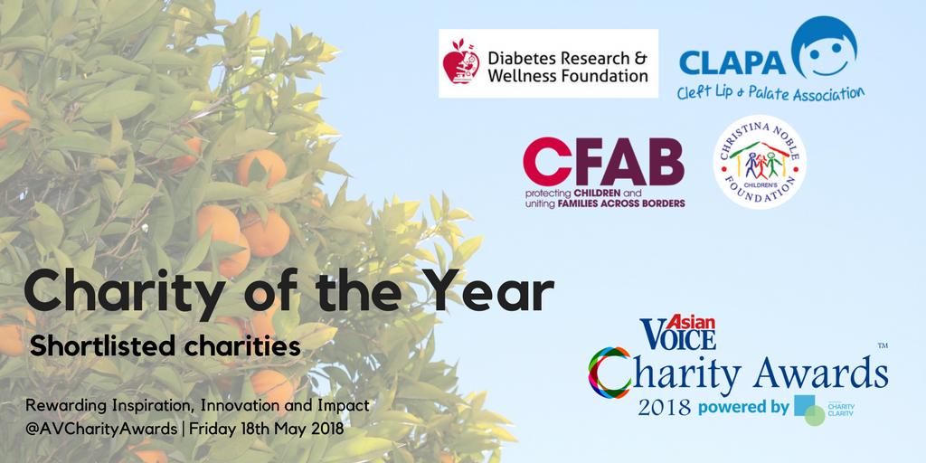 Charity of the Year - shortlisted charities
